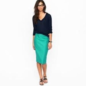 J. Crew No. 2 Pencil Skirt in Double Serge Wool